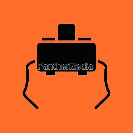 micro button icon orange background with