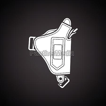 police holster gun icon black background