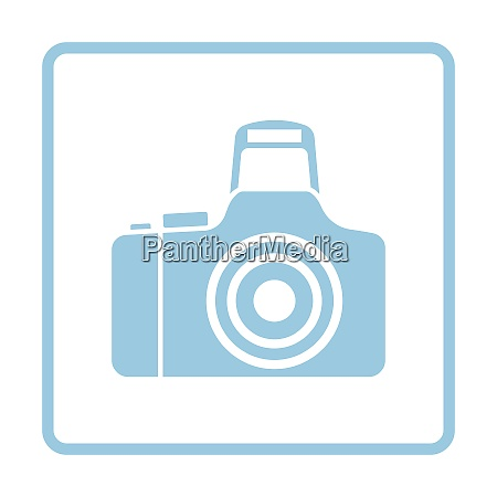 photo camera icon blue frame design