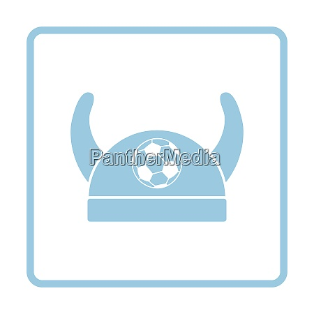 football fans horned hat icon blue