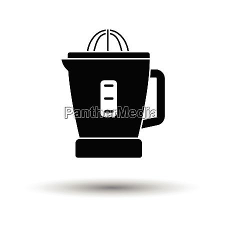 citrus juicer machine icon white background