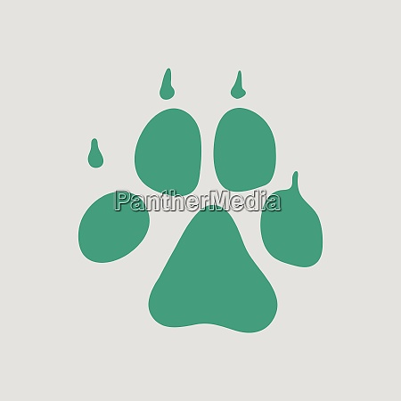 dog trail icon gray background with