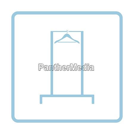 hanger rail icon blue frame design