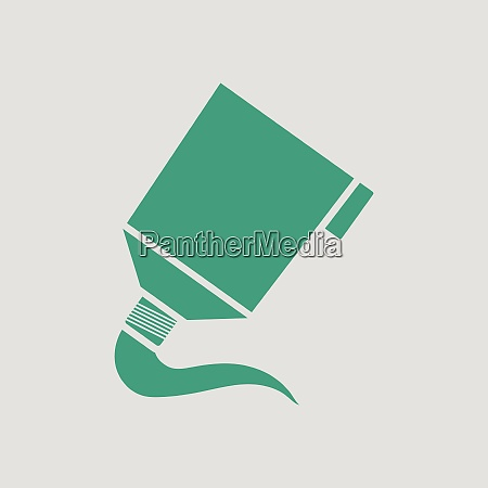 paint tube icon gray background with