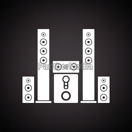 audio system speakers icon black background