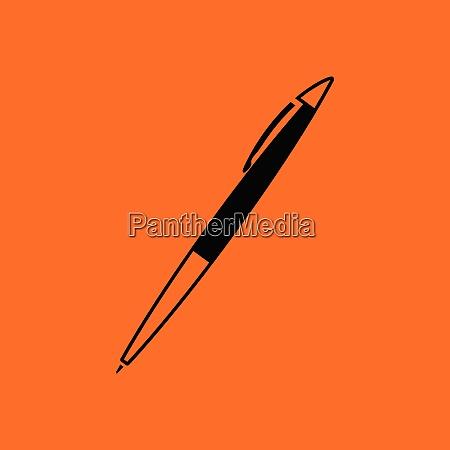 pen icon orange background with black