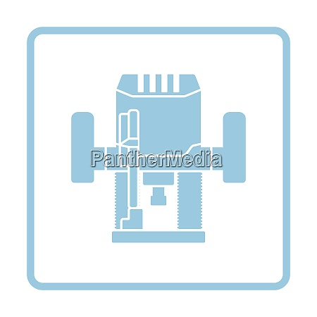 plunger milling cutter icon blue frame