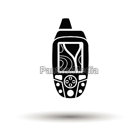 portable gps device icon white background