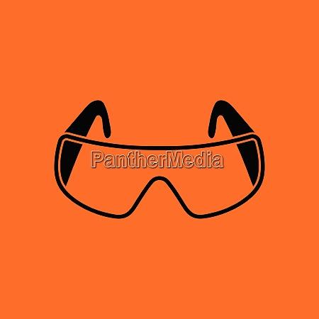 icon of chemistry protective eyewear orange