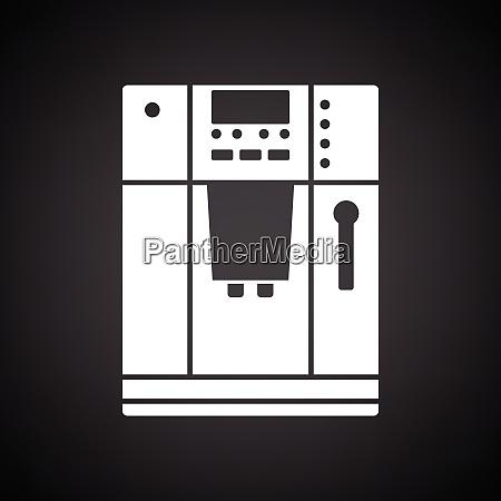 kitchen coffee machine icon black background