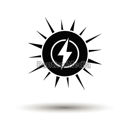 solar energy icon white background with
