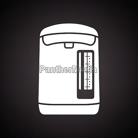 kitchen electric kettle icon black background