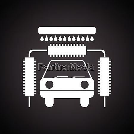 car wash icon black background with