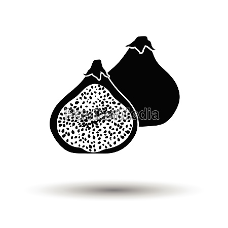 fig fruit icon white background with