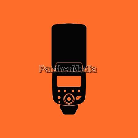 icon of portable photo flash orange