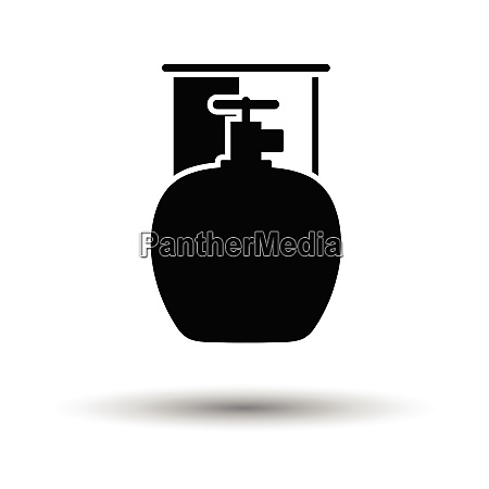 camping gas container icon white background