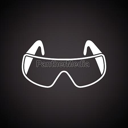 icon of chemistry protective eyewear black