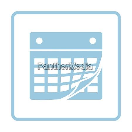 calendar icon blue frame design vector