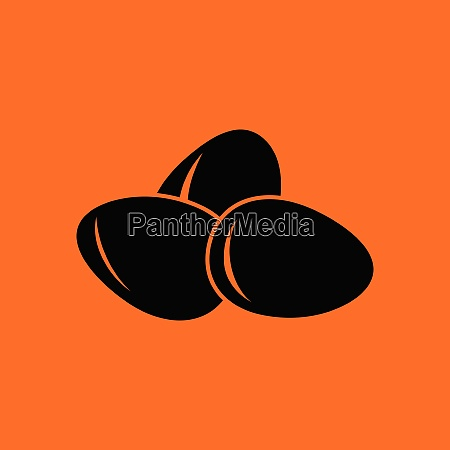 eggs icon orange background with black
