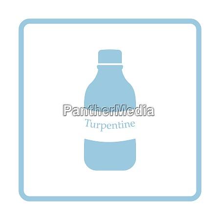 turpentine icon blue frame design vector