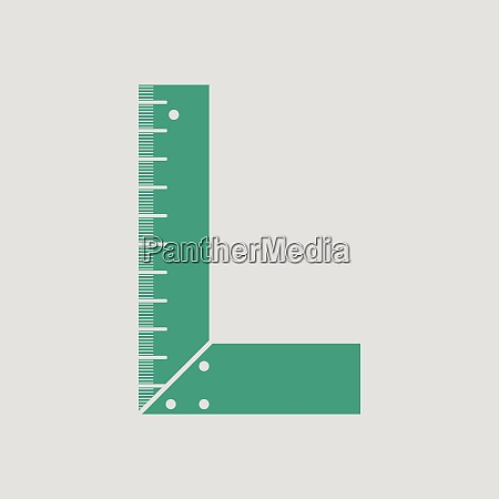 setsquare icon gray background with green