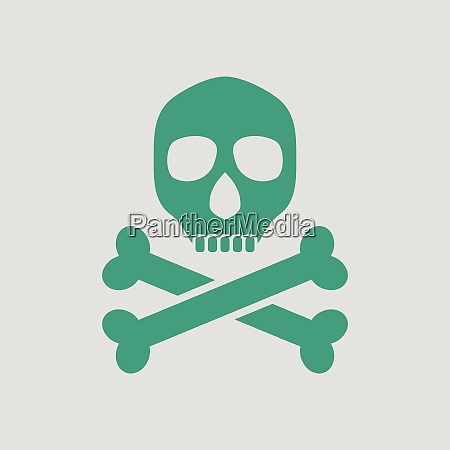 poison sign icon gray background with