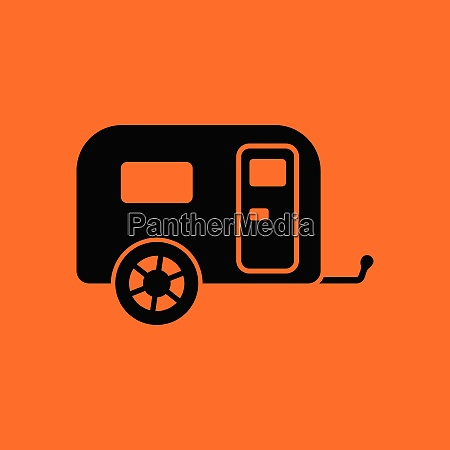 camping, family, caravan, car, , icon. - 26242693