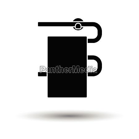 heated towel rail icon white background