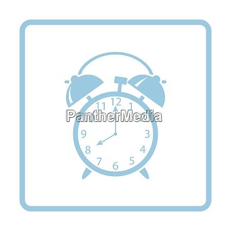 alarm clock icon blue frame design
