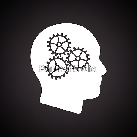 brainstorm icon black background with
