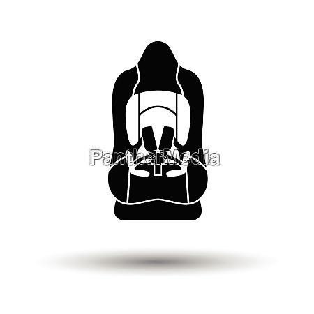 baby car seat icon white background