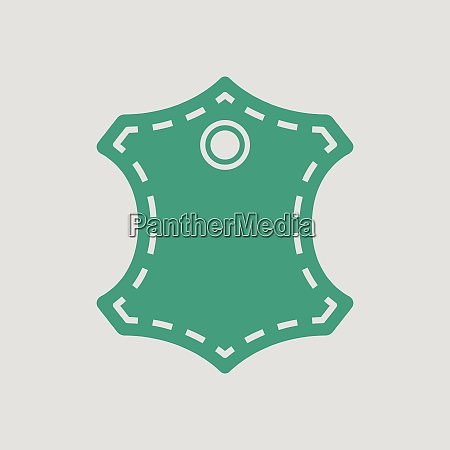 leather sign icon gray background with