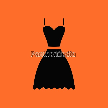 dress icon orange background with black