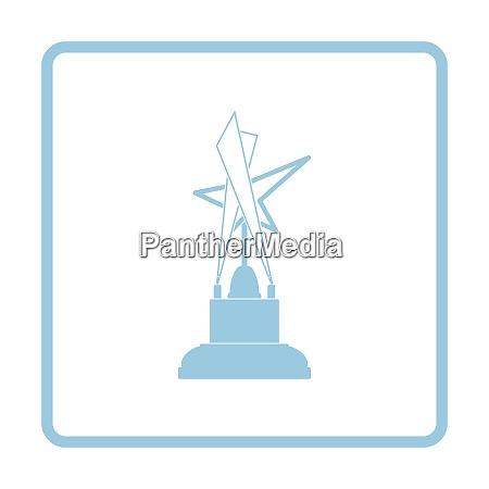 cinema award icon blue frame design