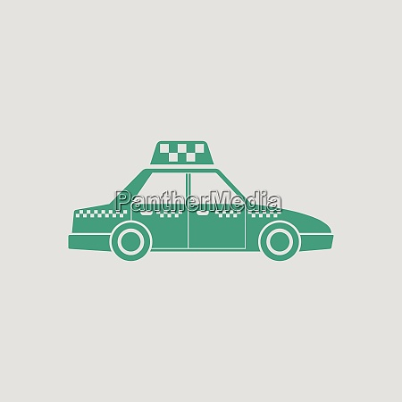 taxi car icon gray background with