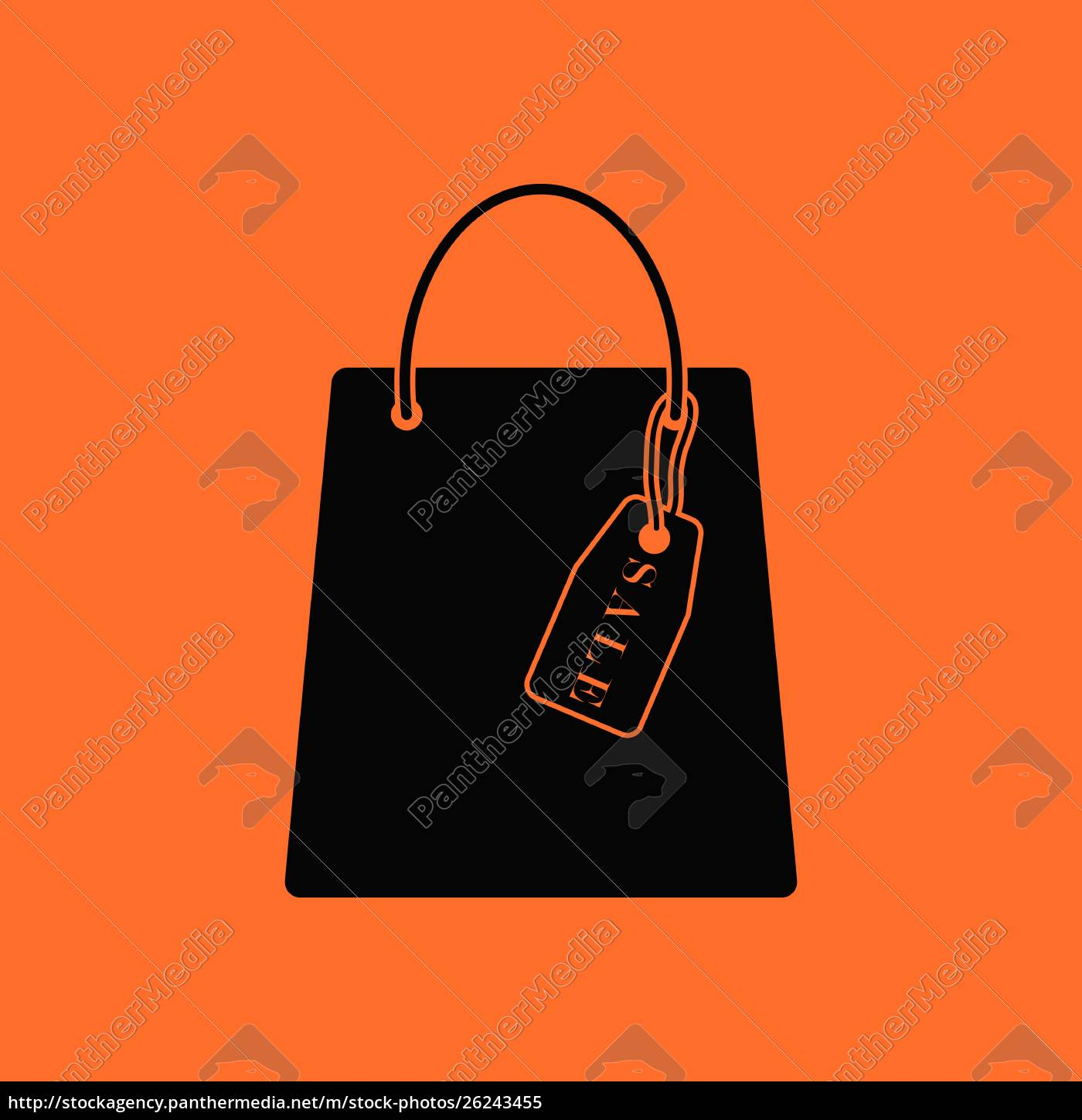 shopping, bag, with, sale, tag, icon. - 26243455