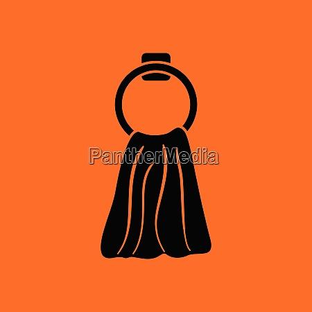 hand towel icon orange background with