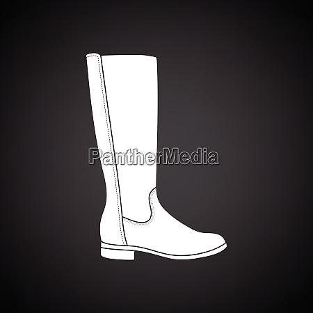 autumn woman boot icon black background