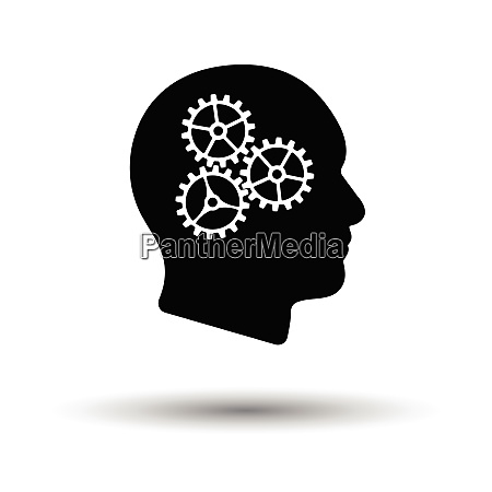 brainstorm icon white background with