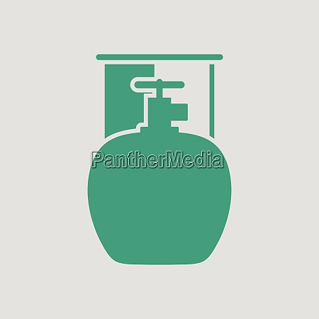 camping gas container icon gray background