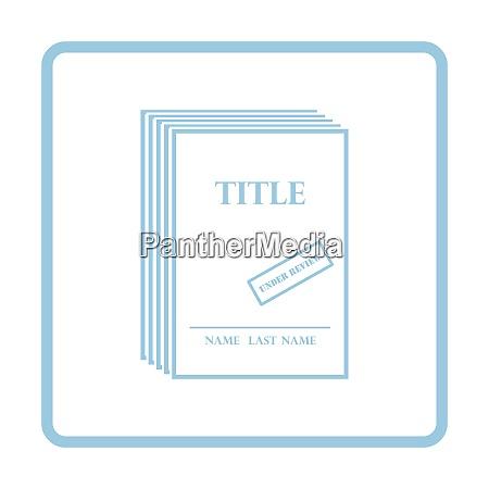 manuscript under review icon blue frame