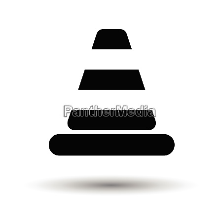 icon of traffic cone white background