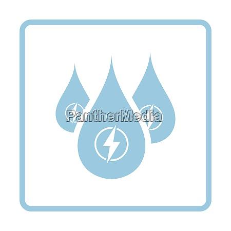 hydro energy drops icon blue