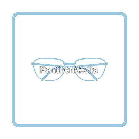 glasses icon blue frame design vector
