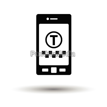 taxi service mobile application icon white