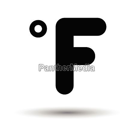 fahrenheit degree icon white background with