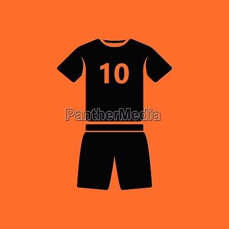 soccer uniform icon orange background with