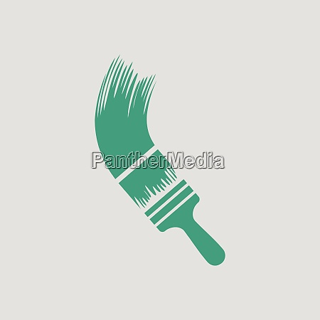 paint brush icon gray background with