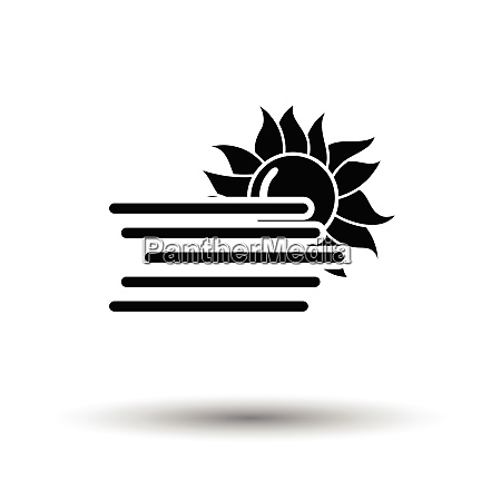 fog icon white background with shadow