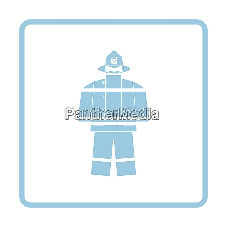 fire service uniform icon blue frame